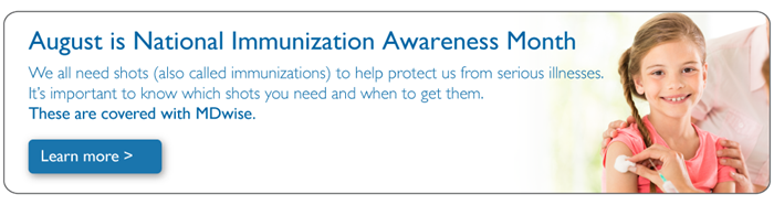 August Immunization Awareness Banner